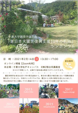 千葉大学園芸学部、東日本大震災の復興支援を振り返るシンポジウムを開催